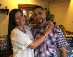 Irlanda Jerez with her husband Daniel Esquivel