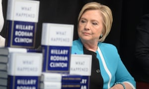 Hillary Clinton at a What Happened book signing in New York on Tuesday.
