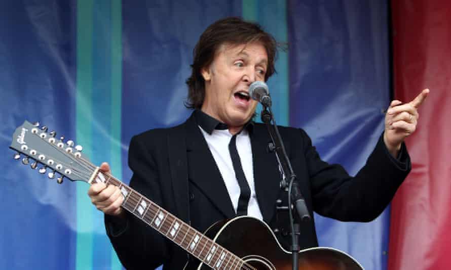Paul McCartney performing in 2013.