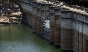 Sydney dam with low water level