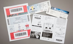 Football tickets the Guardian investigation was able to purchase on resale websites.