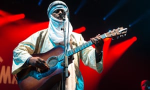 Tinariwen at the Womad festival, UK, 2015.
