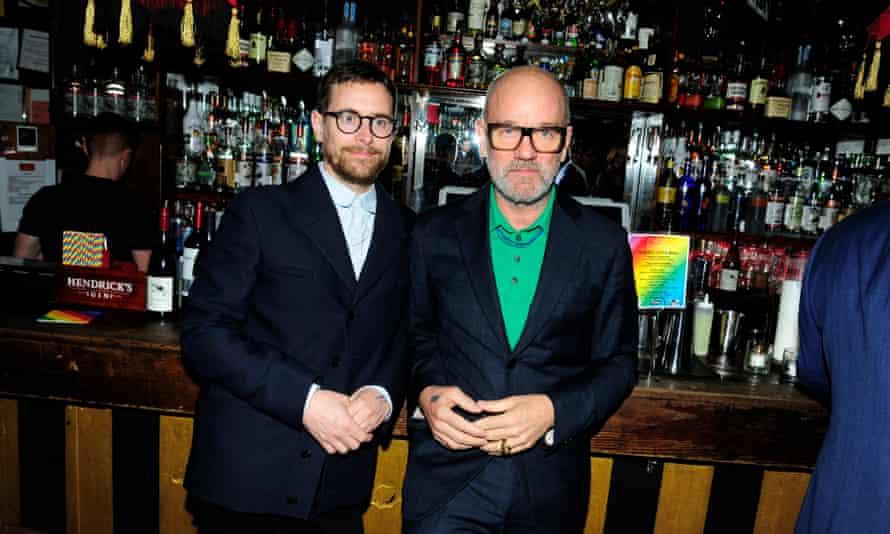 Thomas Dozol and Michael Stipe.
