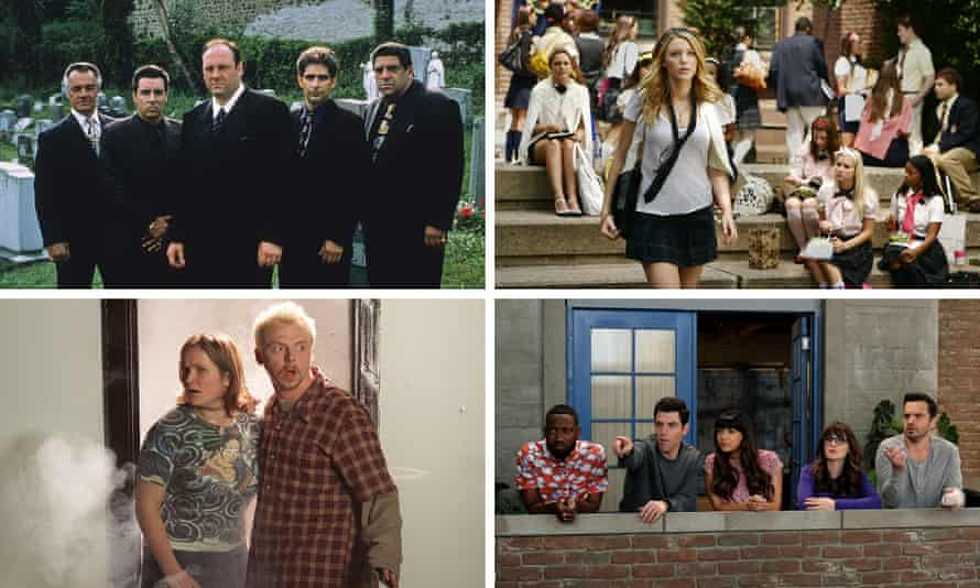 The Sopranos, Gossip Girl, Spaced and New Girl