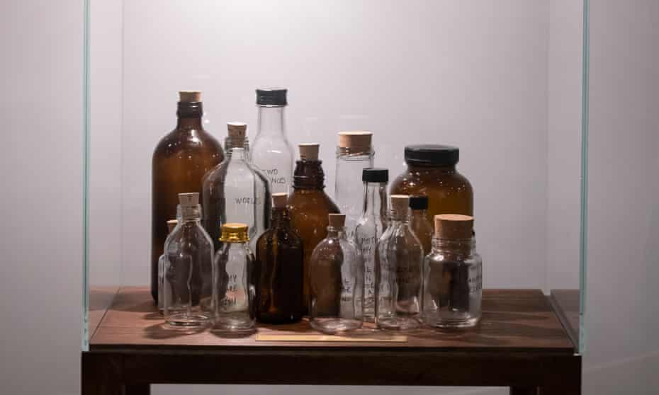 Preserve the poetic voice … Untitled (Spoken Poem in a Bottle), part of Shilpa Gupta: Sun at Night.