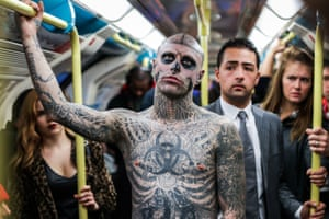 Zombie Boy pictured in London in 2016.