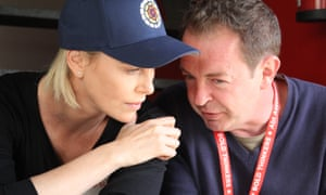 Charlize Theron with WhizzKids United founder Marcus McGilvray.