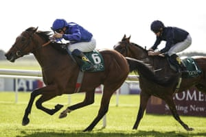 Quorto, left, powering to victory at the Curragh.