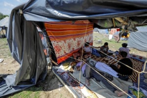 Migrants live in hard conditions in he makeshift camp as they wait to pass to European countries in Velika Kladuša, Bosnia-Herzegovina