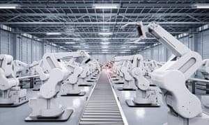 a robot conveyor belt