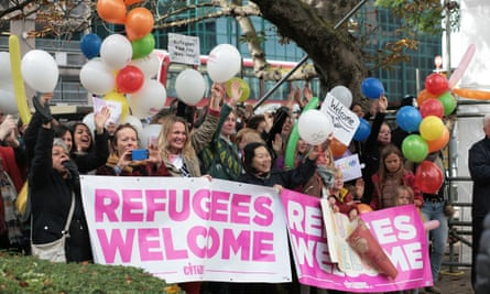 Citizens UK hold an event to welcome refugees in Croydon in October