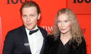 Journalist Ronan Farrow with his mother Mia.