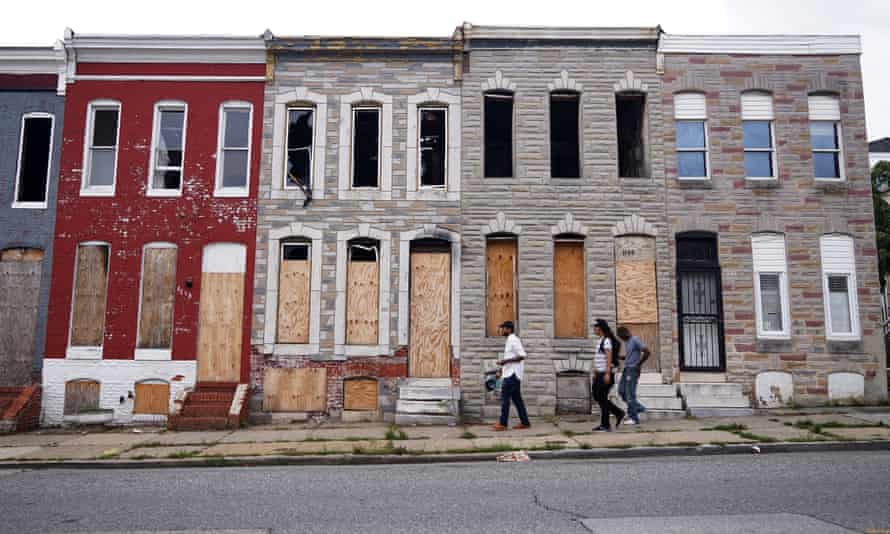 'The neighbourhoods that have been decimated are not completely vacant' ... A mixture of derelict and occupied rowhouses.