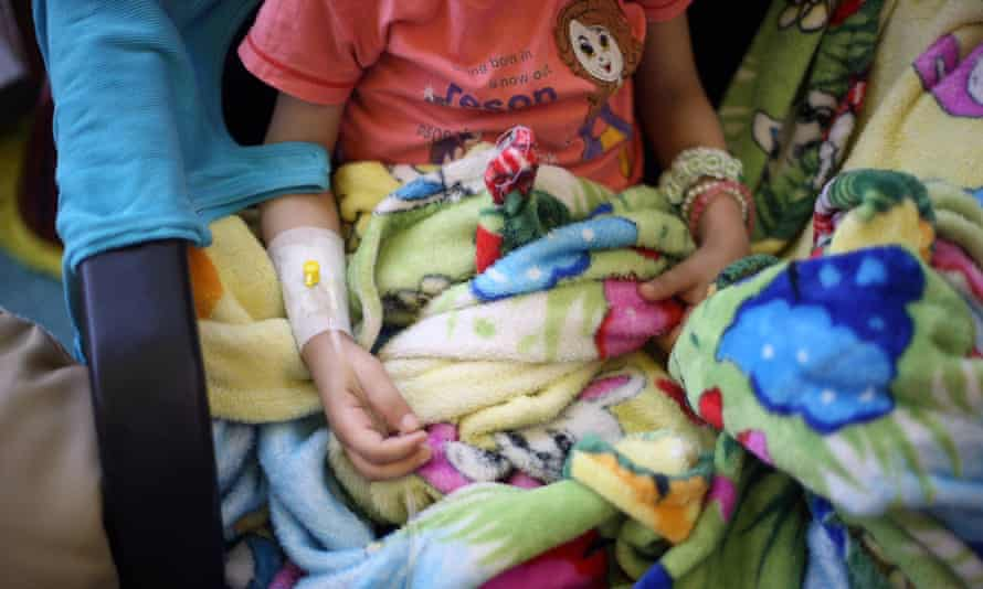 A child receives treatment at 57357 hospital, in the Egyptian capital Cairo