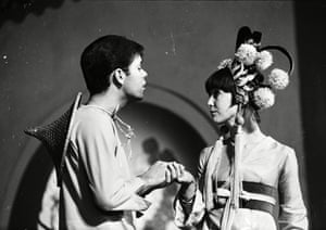 With Sir Cliff Richard in the pantomime Aladdin And His Wonderful Lamp, 1964.