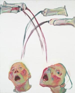 Farbenfresser (Colour Eater) by Maria Lassnig.