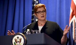 Defence minister Marise Payne