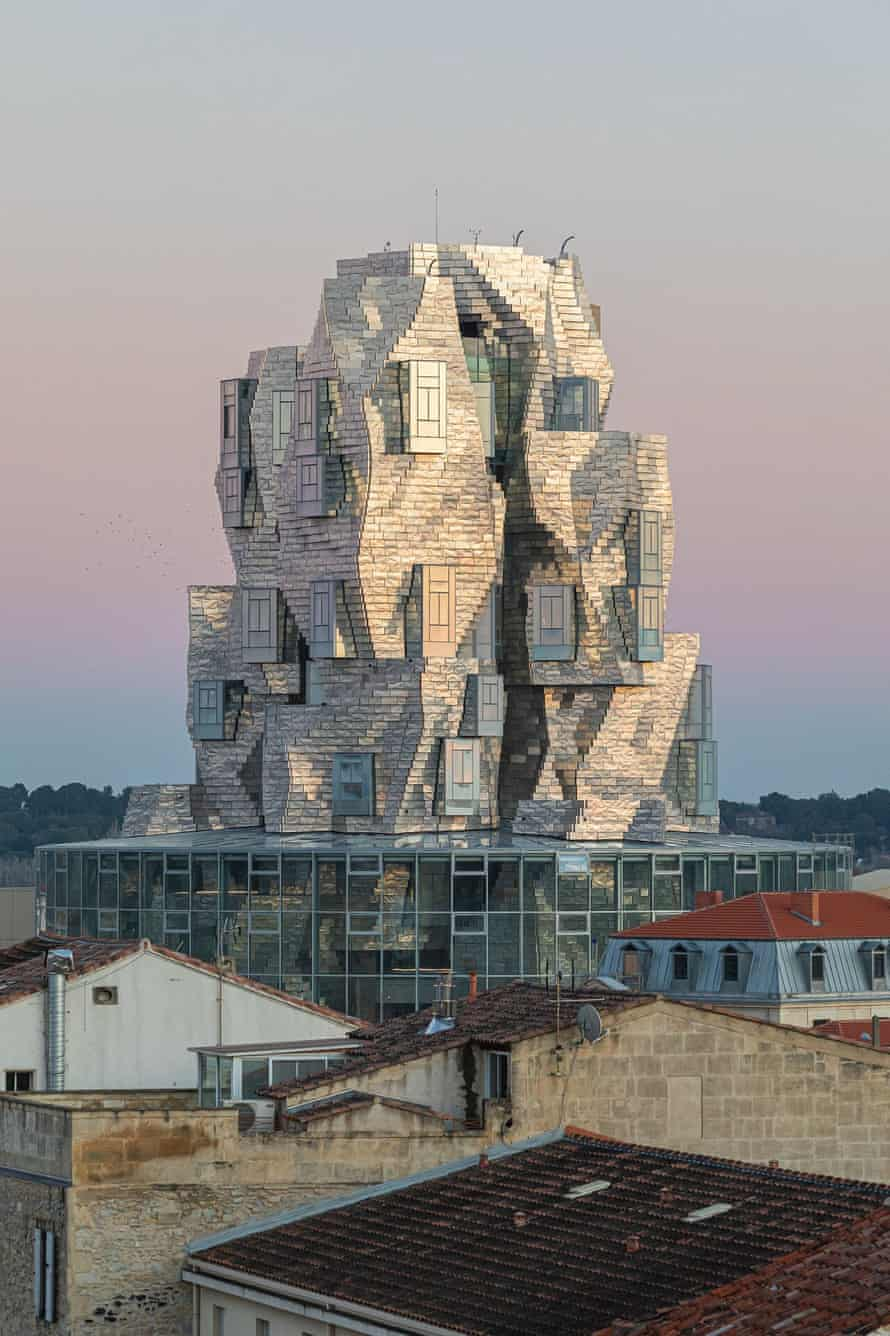 Gehry's Luma Arles tower catches the changing light, in tribute to one-time local artist Vincent van Gogh.