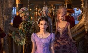 Mackenzie Foy as Clara and Keira Knightley as Sugar Plum in disney's The Nutcracker and the Four Realms