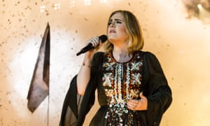 Adele on the Pyramid stage