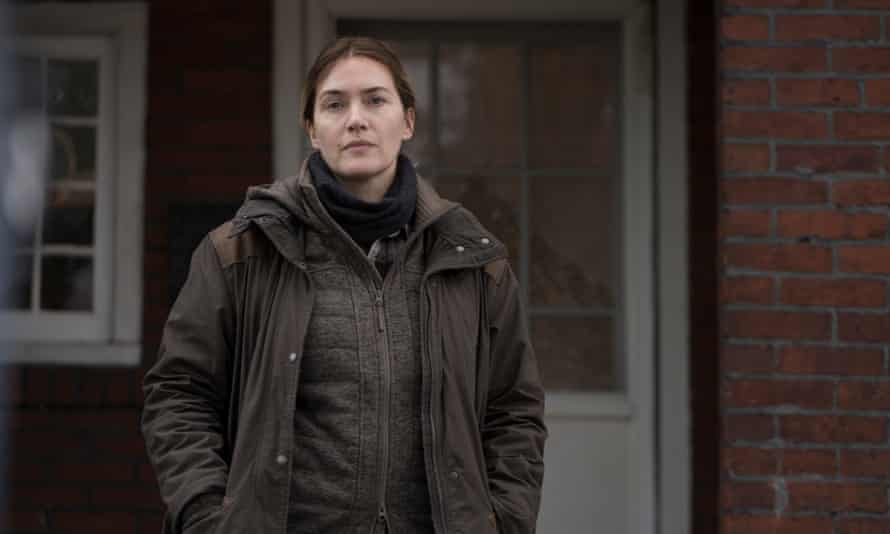 Kate Winslet as Detective Mare Sheehan, looking for a missing teenager.