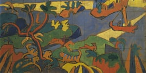 Grounds for divorce … Spencer Gore's study for a mural decoration for the Cave of the Golden Calf, 1912.