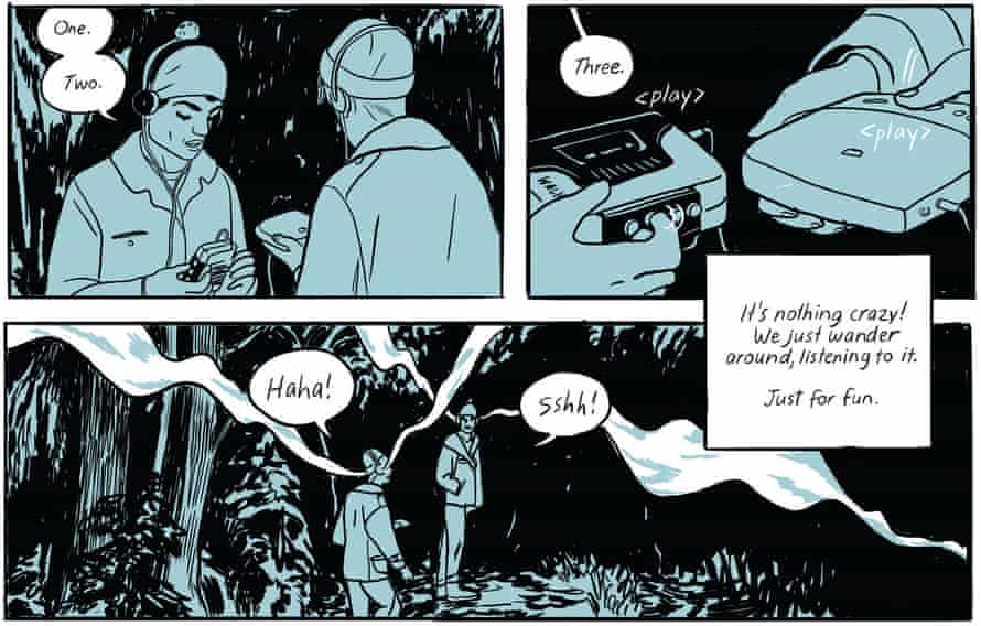 pictures from the graphic short story book boundless by jillian tamaki