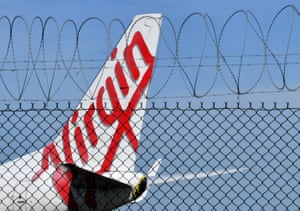 A Virgin Australian aircraft that landed at Brisbane airport