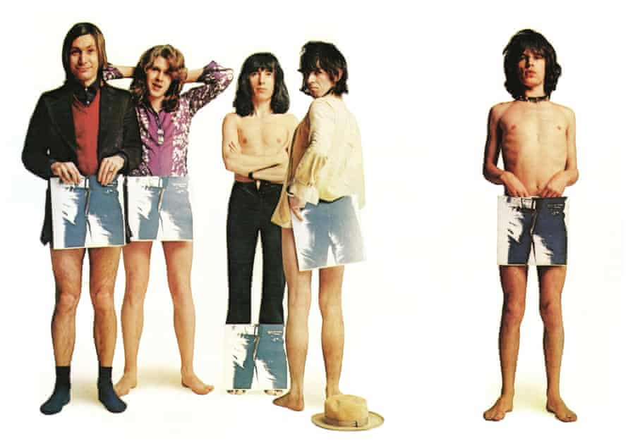 The Rolling during a Sticky Fingers promo shoot. From left: Charlie Watts, Mick Taylor, Bill Wyman, Keith Richards and Mick Jagger.
