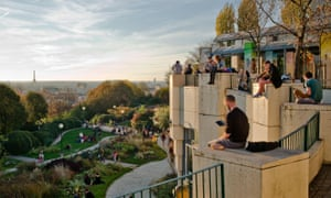 Belleville inhabitants enjoy the sunshine, Paris.