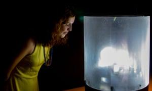 A bioreactor, part of the Futile Labor exhibition at John Curtin Gallery in Perth