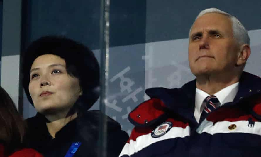 US Vice President Mike Pence and North Korea's Kim Jong-un's sister Kim Yo-jong attend the opening ceremony of the Pyeongchang 2018 Winter Olympic Games