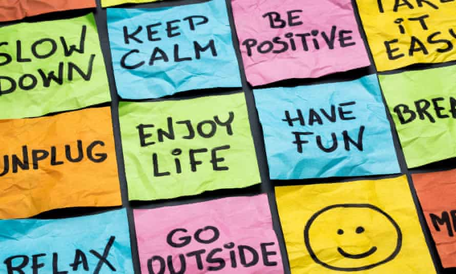 colourful sticky notes reading 'relax, keep calm, enjoy life'