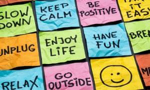 Motivational sticky notes