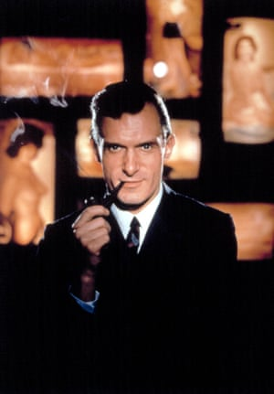 Hefner with his trademark pipe