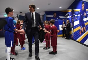Antonio Conte arrives at the stadium.