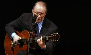 Joao Gilberto performs at Carnegie Hall in New York.