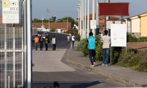 Asylum seekers in Cara di Mineo