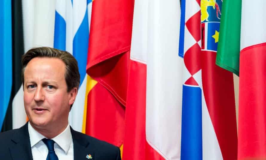 David Cameron at an EU summit in Brussels last week