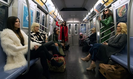Sandra Bullock, Cate Blanchett, Rihanna, Mindy Kaling, Awkwafina, Helena Bonham Carter, Anne Hathaway and Sarah Paulson in Ocean's 8