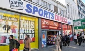 A Sports Direct shop in Camden, London.