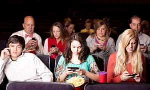 'If you've gone to a cinema recently, chances are a mobile has encroached on your movie.'