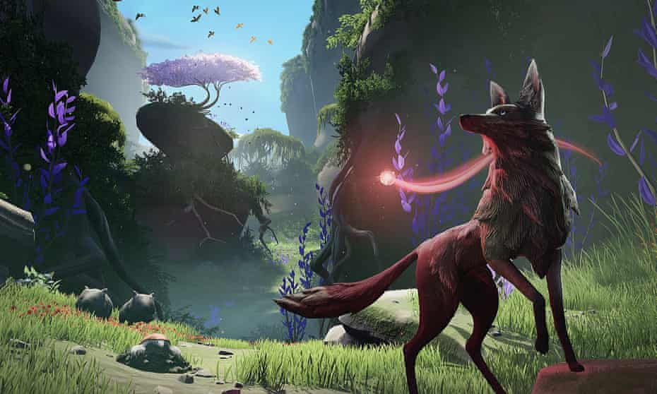 Screengrab from the video game Lost Ember.