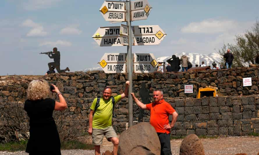 Tourists in the Golan Heights.