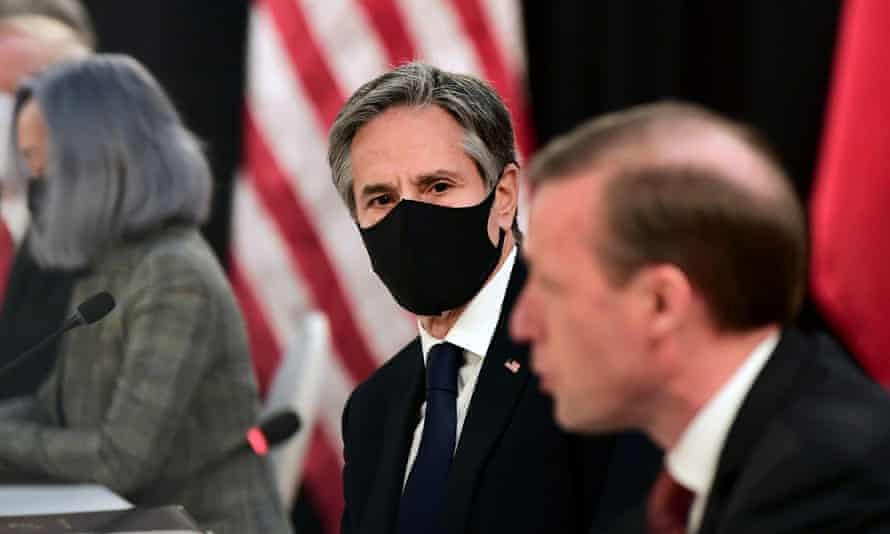 From left, US secretary of state Antony Blinken and US national security adviser Jake Sullivan.