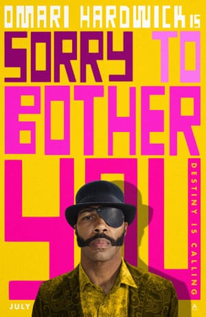 Poster art for Sorry to Bother You, featuring Omari Hardwick.