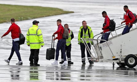 The England squad return from Euro 2016.