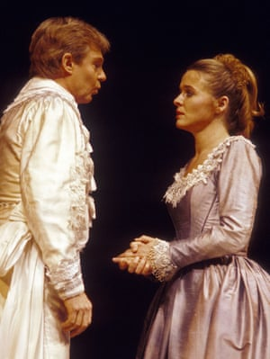 Derek Jacobi as Benedick and Sinéad Cusack in Much Ado About Nothing.