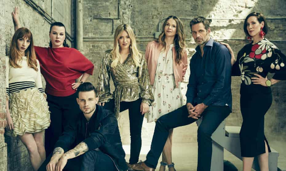 The cast of TV show Younger, led by Sutton Foster and Hillary Duff.
