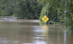 Flooding in La Grange, Texas.